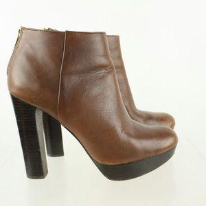 Michael By Michael Kors Platform Ankle Boots